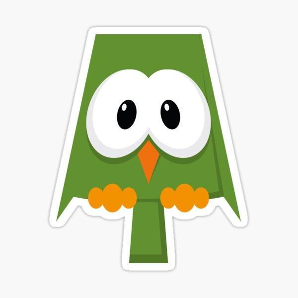 eule grün, owl Sticker