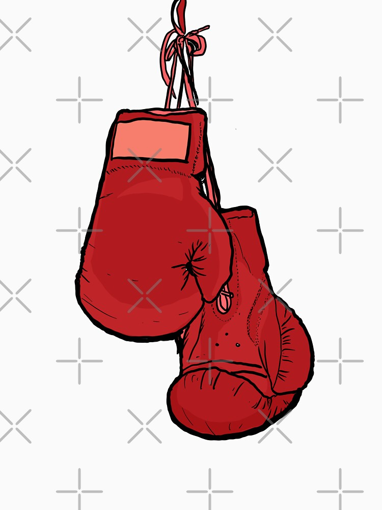 Hanging Red Boxing Gloves by Beyond-the-ring