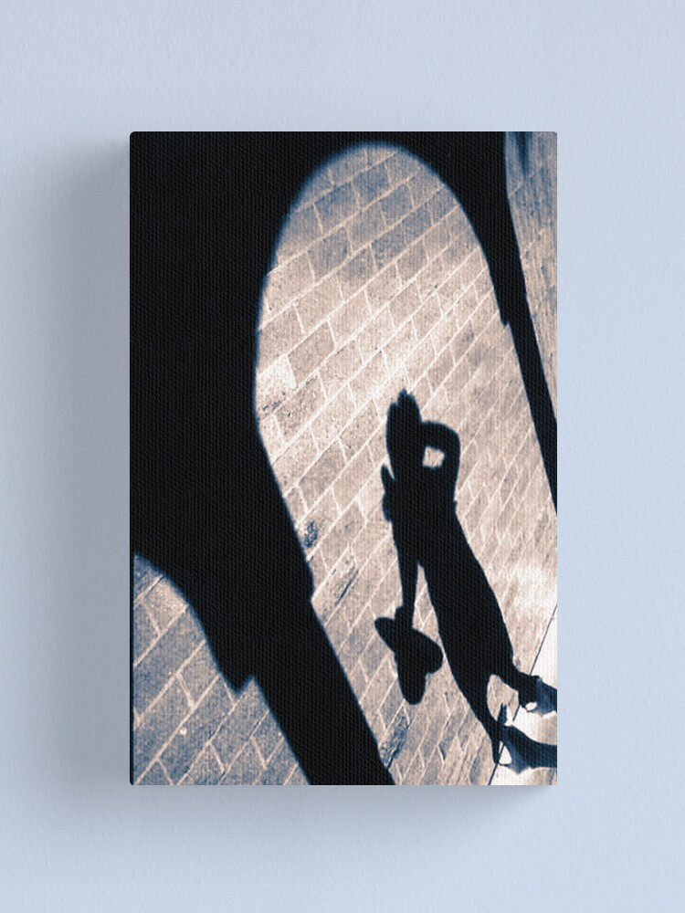 Alternate view of Shadow On The Wall Canvas Print