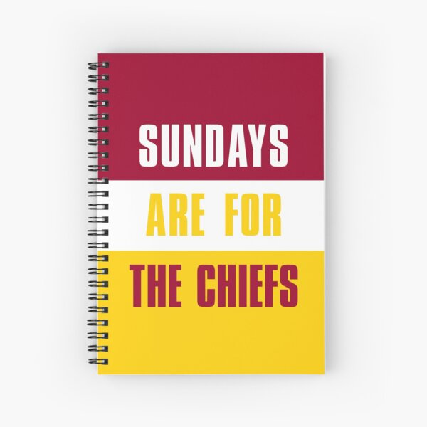 Sundays are for The Chiefs, Kansas City Spiral Notebook