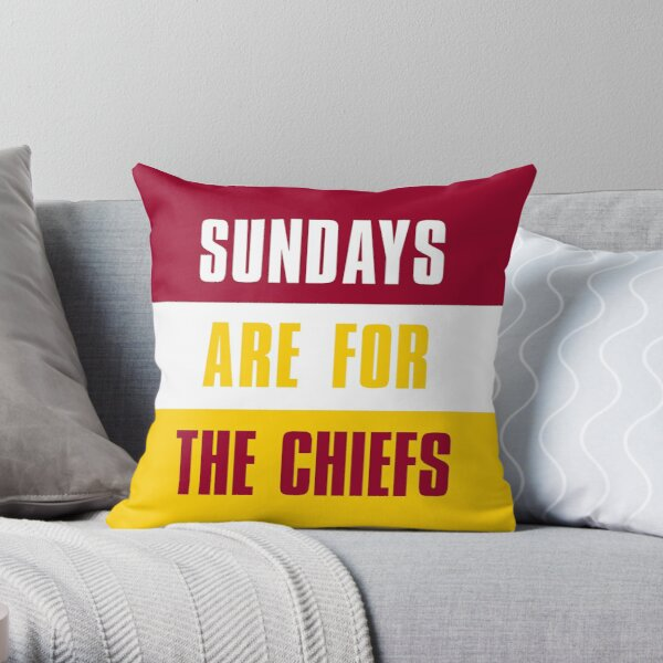 Sundays are for The Chiefs, Kansas City Throw Pillow