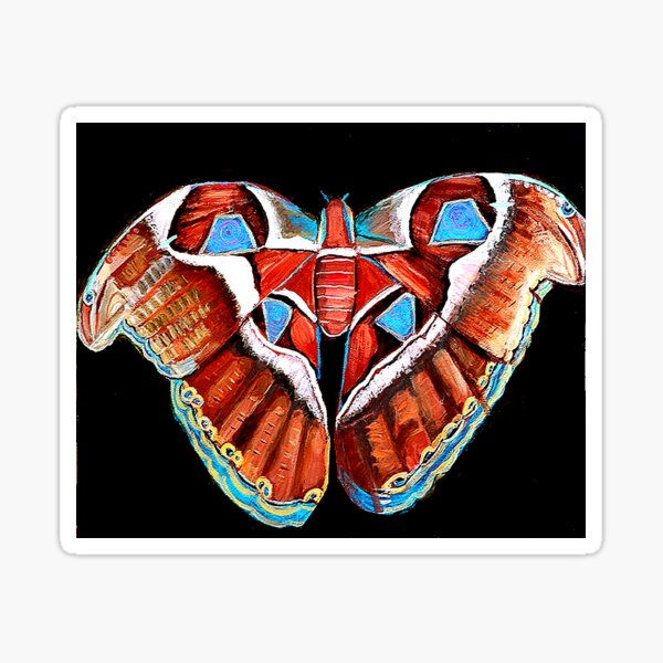 Spiral Butterfly III Sticker
