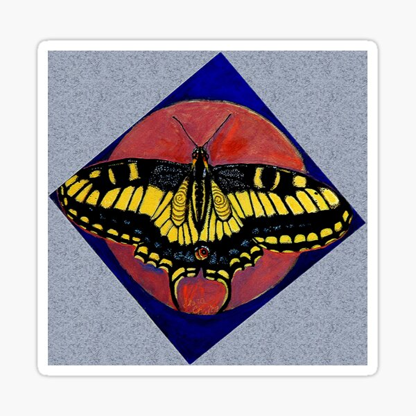Spiral Butterfly IV Sticker