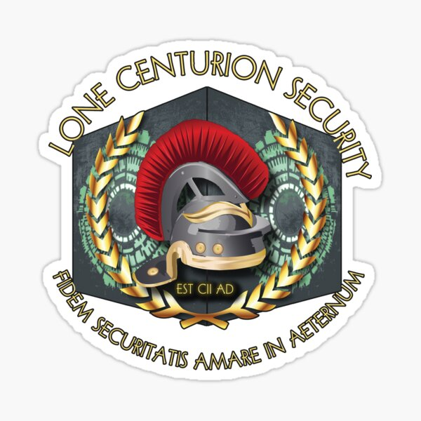 Lone Centurion Security Sticker
