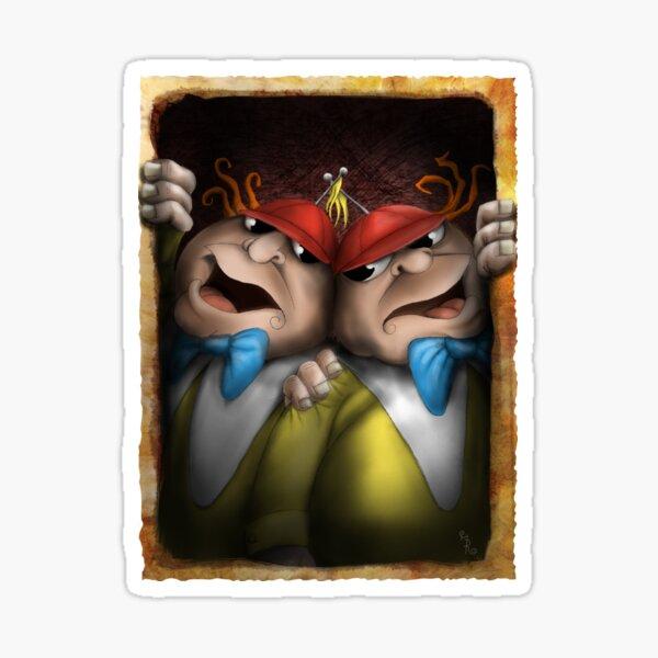 tweedle dum and dumber - alice in wonderland Sticker