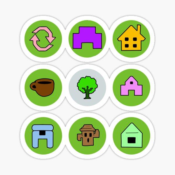 Animal Crossing Symbols Stickers Redbubble