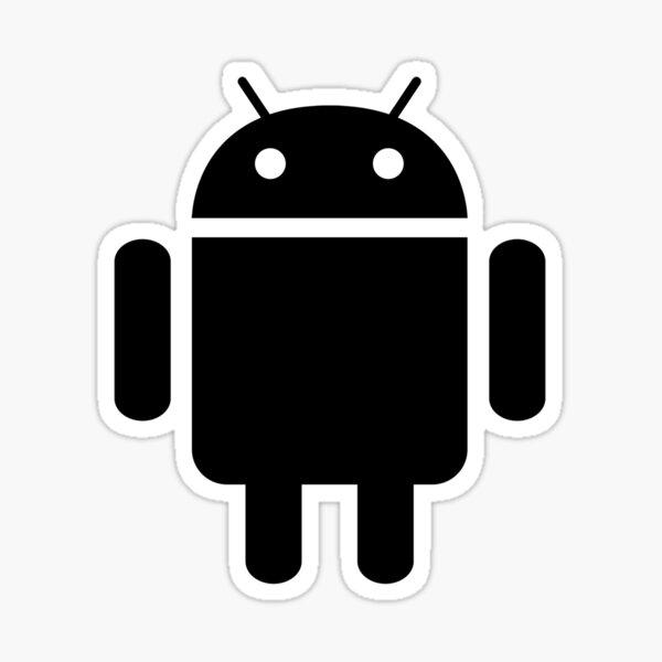 Black & White Android Sticker