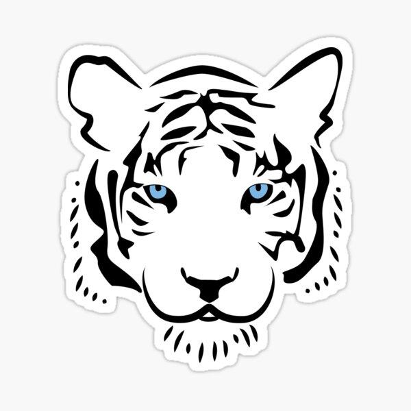 Feng shui tigre blanc Sticker