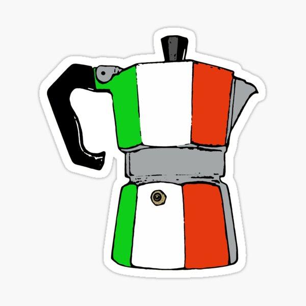 cafetera italiana Pegatina