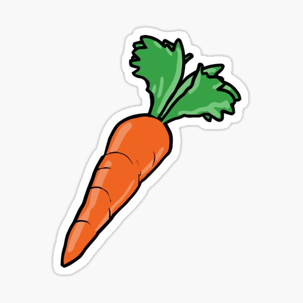 Cartoon Carrot Sticker By Cpinteractive Redbubble
