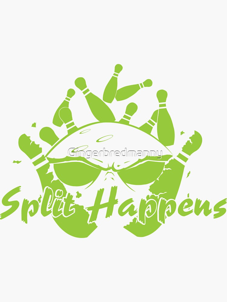 Split Happens Bowling Logo by Gingerbredmanny
