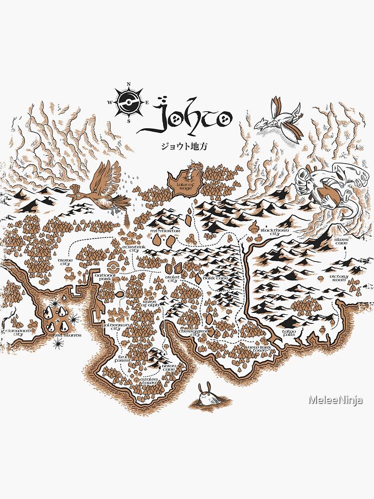 Johto Map by MeleeNinja