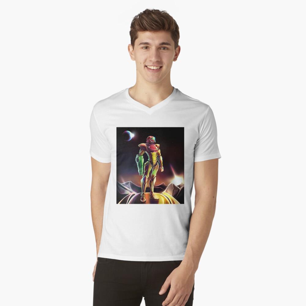 Samus Power Suit Camiseta de cuello en V