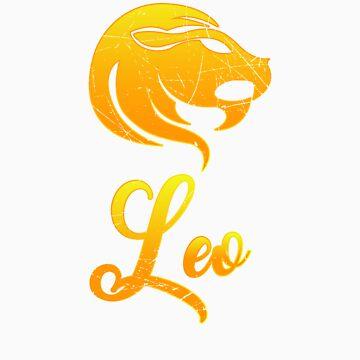Vintage Leo Zodiac Sign Retro Horoscope Birthday Gift Idea by orangepieces