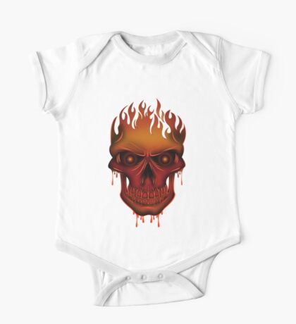 Flame Skull (2) Kids Clothes