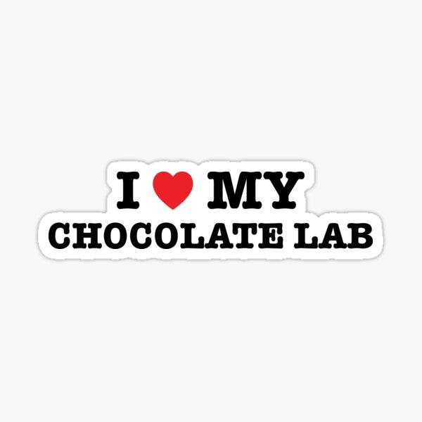 I Heart My Chocolate Lab Sticker