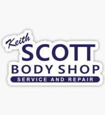Ein Baum-Hügel - Keith Scott Body Shop Sticker
