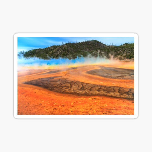 Grand Prismatic shores of steaming color Sticker