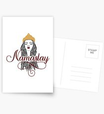 Red Namaslay African American Woman Dreads Postcards