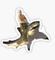 Pegatina Putin montando un tiburón