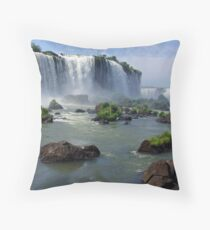 At the edge of the Devil's Throat Throw Pillow