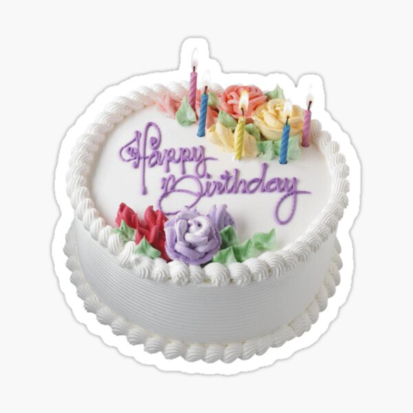 Enjoyable Birthday Cake Stickers Redbubble Personalised Birthday Cards Veneteletsinfo