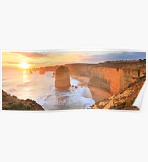 Twelve Apostles Sunset, Great Ocean Road, Australia Poster
