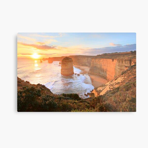 Twelve Apostles Sunset, Great Ocean Road, Australia Metal Print