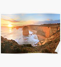 Twelve Apostles Sunset, Great Ocean Road, Australia Poster