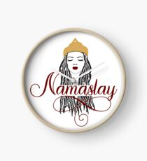 Red Namaslay African American Woman Dreads Clock