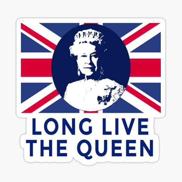 La reine Elizabeth II vive la reine Sticker