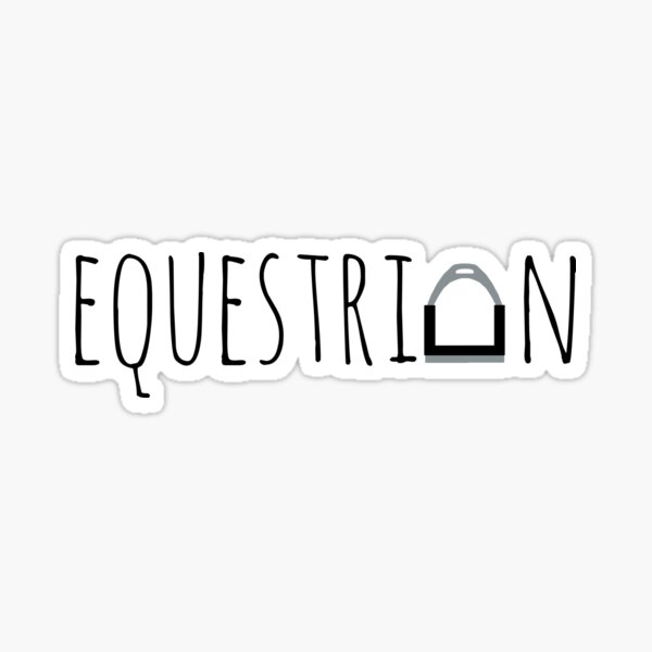 """Equestrian"" Logo with Stirrup  Sticker"