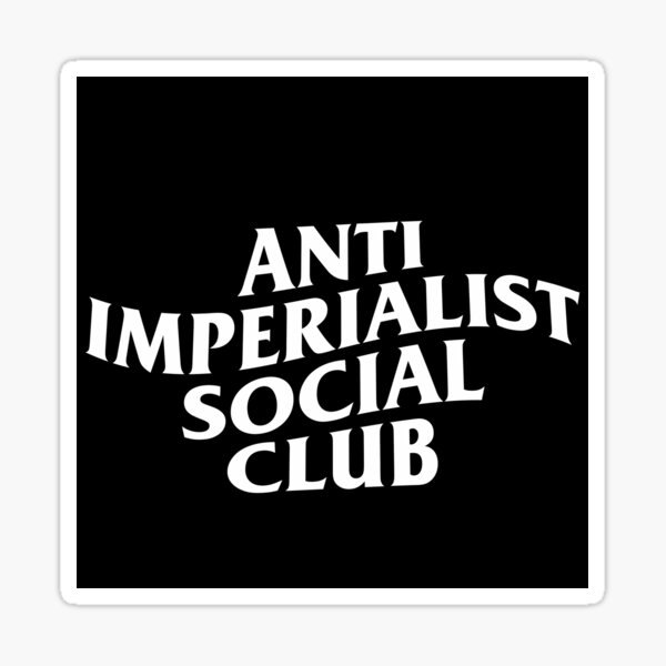 Club social anti imperialista Pegatina