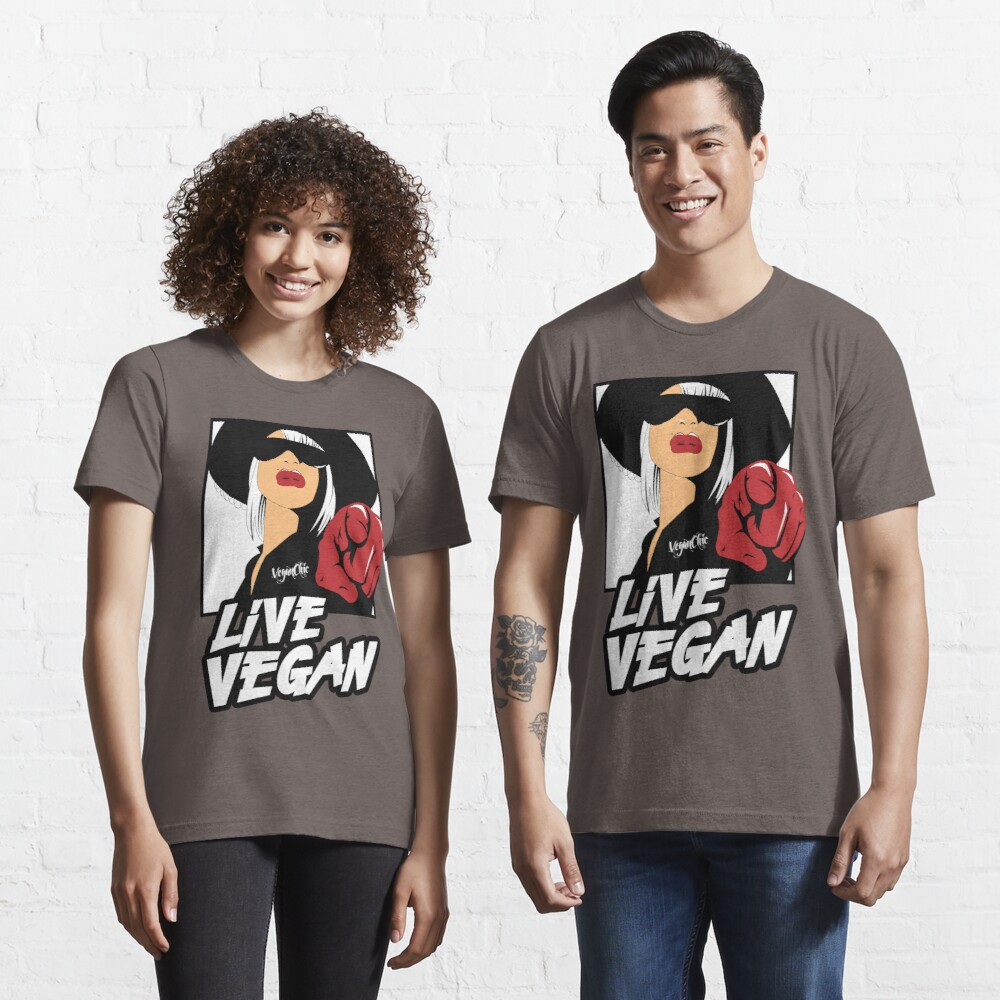 VeganChic ~ Live Vegan Essential T-Shirt