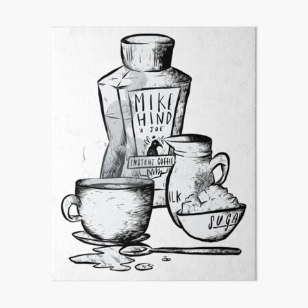 Instant Coffee Art Board Print