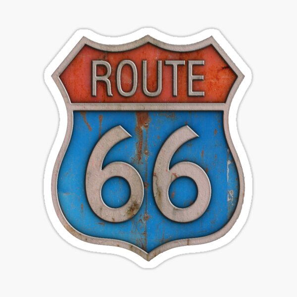 Route 66 California Classic Sticker, Shirt, Poster, Case, Skins Sticker