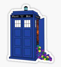 Police Box Yarn Box Sticker