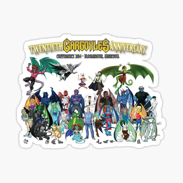 Twentieth Gargoyles Anniversary Sticker