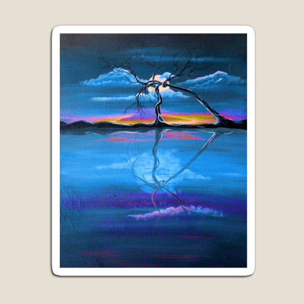 Original Blue Reflection landscape by ANGIECLEMENTINE Magnet