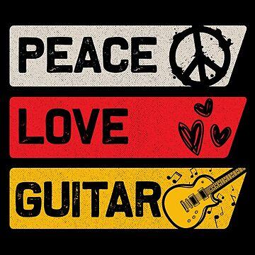 Peace guitar by GeschenkIdee