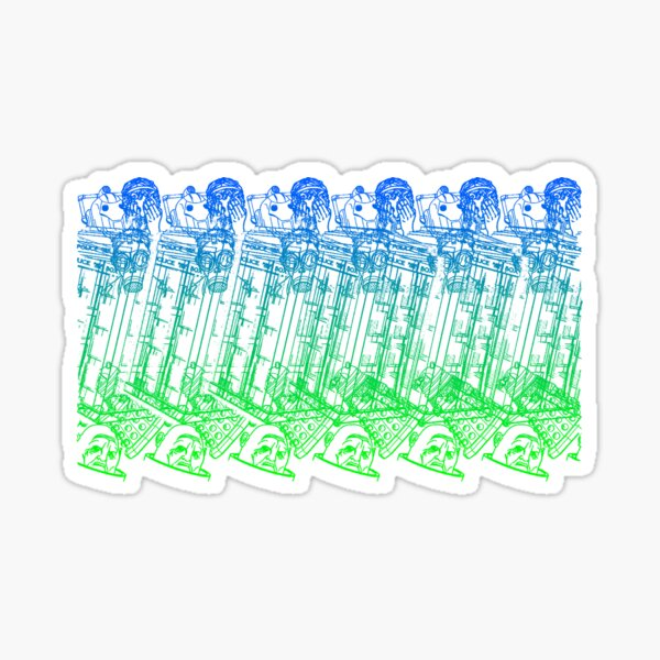 Stereographic who Sticker