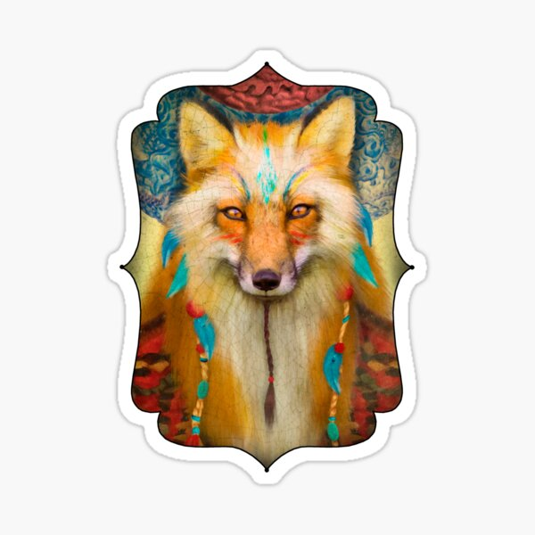 Wise Fox  Sticker