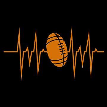 Football heart pulse by GeschenkIdee