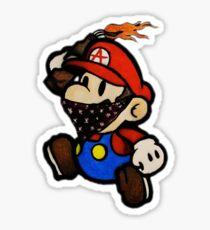 Anarchist Mario Sticker
