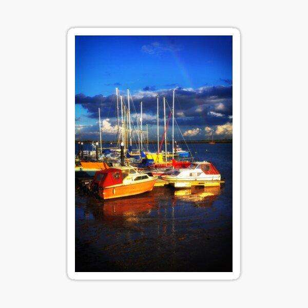 Heybridge Boats and Rainbow Sticker