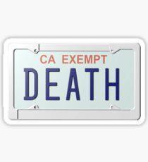 Death Grips Plate Sticker