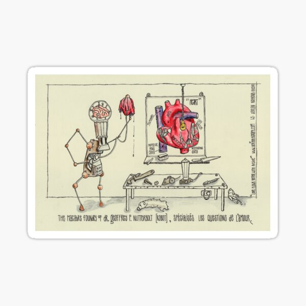 The Macabre Foundry of Dr. Geoffrey P. Nutterbolt Sticker
