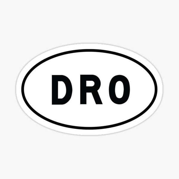 Oval Sticker - DRO - Durango-La Plata County Airport Sticker