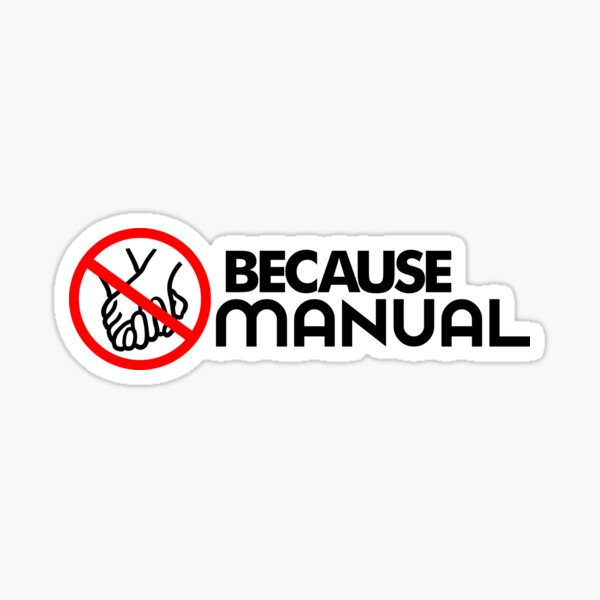 BECAUSE MANUAL (2) Sticker