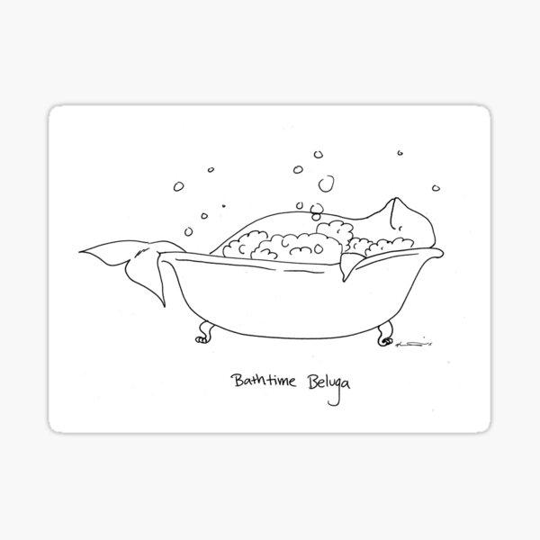 Bathtime Beluga Sticker